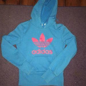 Blue Adidas Logo Hoodie